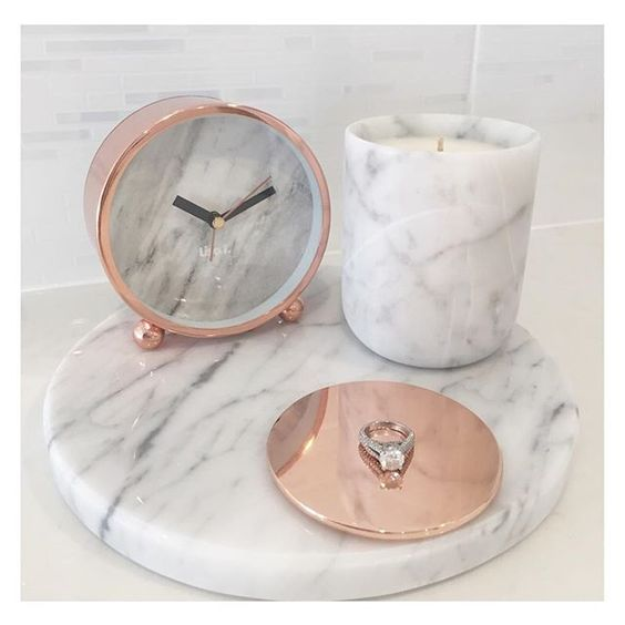 Obsessed with our Marble & Rose Gold range www.florenceandharper.com.au: